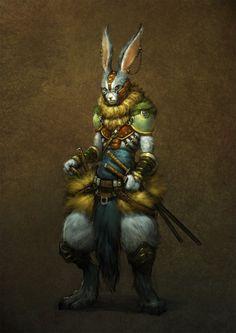 Wererabbit  Conceito de Arte: Homem-coelho