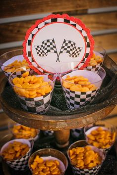 Race Car Themed Birthday Party via Kara's Party Ideas KarasPartyIdeas.com The one stop spot for party ideas, supplies, desserts, cake, food, recipes, favors, printables and more! #racecarparty #racingparty #racecarpartydesserts #carparty (13)