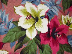 vintage tropical barkcloth