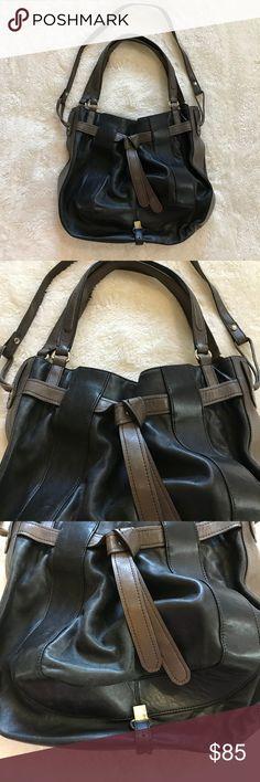 f1f09b312 Kooba Handbag Crossbody & Shoulder Black Leather Black and taupe leather  large handbag that can be