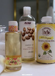 2 Ingredients for Oil Cleansing Face Wash via Clean Mama