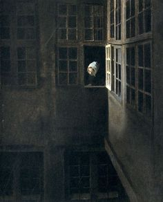 Vilhelm Hammershøi - often written in English Vilhelm Hammershoi, was a Danish painter. He is known for his poetic, low-key portraits and interiors. Low Key Portraits, Tableaux Vivants, Light In, Arte Horror, Nocturne, Art Boards, Art History, Painting & Drawing, Fine Art