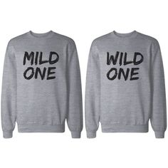 Amazon BFF Shirts - Mild One and Wild One Matching Grey Sweatshirts for Best Friends