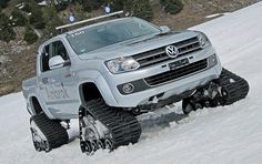 Tracked VW Amarok at Flims / Laax, Switzerland by bobaliciouslondon, via Flickr