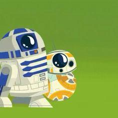 BB-8 and R2-D2 as cartoons! #bb8awakens #starwars #digitalart #cartoonart #r2d2 #bb8 #milleniumfalcon #battlefront #starwarstheforceawakens #forceawakens #getoutoftheway #awww #cuteness #droid #droids #sphero #c3po #astromech #xwing #rebelalliance #bb8droid #robots #adorable #starwarsart #vectorart #vector #johnboyega #daisyridley