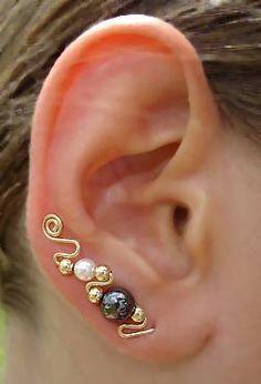 Zarcillos perlas alargados