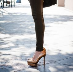 Love these metallic shoes.