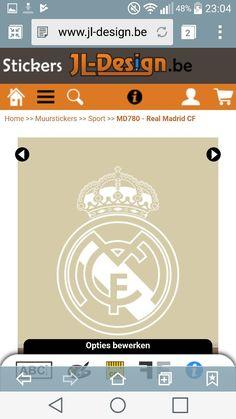 Muursticker Real Madrid