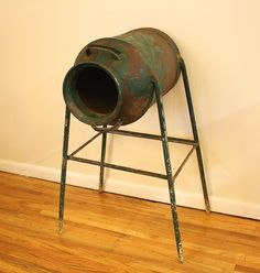 Antique Rustic Milkcan Saddle Stand