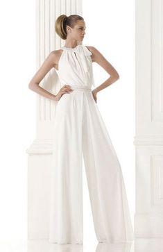 white bridal pant suit - Google Search