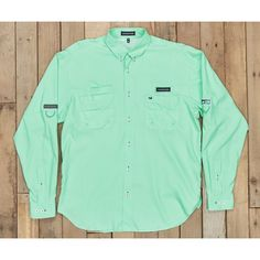 Southern Marsh Harbor Cay Fishing Shirt - Bimini Green