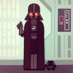 Star Wars Hipster Style Portraits /// Darth Vader /// by Jason Yang