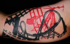 b57c395a6ff82 13 Best Tattoos - Roller Coasters ☠ images in 2012 | Roller coaster ...