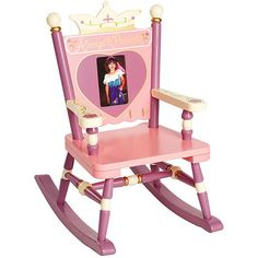 "---  - ""Materials: MDF and hard wood."" - ""Colors: Lavender, pink, ivory."" - 4x6 photo frame . - Recommended for toddlers to age 3 (up to 50 pounds). - ""Seat height: 10 inches."" - ""Dimensions: 24 inches high x 18 inches wide x 9 inches deep."" - Assembly Required. - ."
