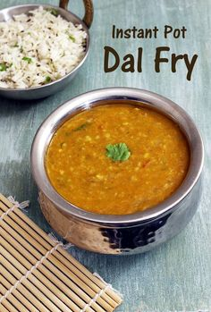 Instant Pot Dal Fry Recipe - This is healthy dal recipe that can be made on regular basis. The meal is complete and comforting when served with rice (e. plain rice, jeera rice or pulao) or quinoa. Daal Recipe Indian, Toor Dal Recipe, Urad Dal Recipes, Lentil Recipes Indian, Dahl Recipe, Curry Recipes, Indian Food Recipes, Vegetarian Recipes, Arroz Con Leche