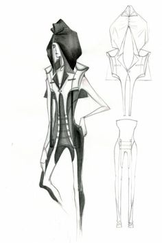 Fashion Sketchbook - womenswear fashion design illustration; fashion sketch; fashion portfolio // Mengjie Di