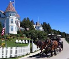 Mackinac Island, Michigan - No cars  allowed!