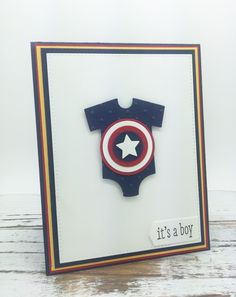 PinkBlingCrafter: A Captain America Onesie Baby Card for Friday Mashup
