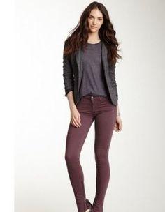 Kali Denim Skinny Jeans PURPLE RIDRING SADDLE EQUESTRIAN