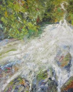"Saatchi Art Artist Jack Michael Weinblatt; Painting, ""Running Water"" #art"
