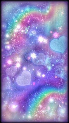 By Artist Unknown. Cocoppa Wallpaper, Unicornios Wallpaper, Rainbow Wallpaper, Cellphone Wallpaper, Wallpaper Iphone Cute, Colorful Wallpaper, Galaxy Wallpaper, Wallpaper Backgrounds, Glitter Background