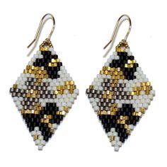 Beaded Poppy Earrings. Handmade by women in the Philippines. #blumaproject