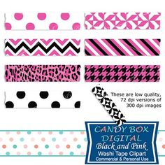 These beautiful black and pink digital washi tape are great for highlighting your photos in many applications: newsletters, invitations, cards, on your blog, etc! From our Teachers Pay Teachers shop.