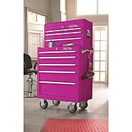 """The Original Pink Box """"Perfectly Pink"""" 8 Drawer Heavy-Duty Ball Bearing 2 Piece Tool Storage - Tools - Tool Storage - Tool Chest Combos Storage Sets, Tool Storage, Makeup Storage, Cosmetic Storage, Makeup Box, Jewelry Storage, Hair Makeup, Pink Tool Box, Home Salon"""