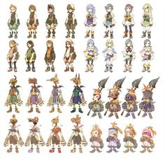Final Fantasy: Crystal Chronicles, all races artwork | #FinalFantasy #CrystalChronicles: