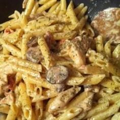 Spicy Shrimp and Chicken Pasta (Like Carinos)