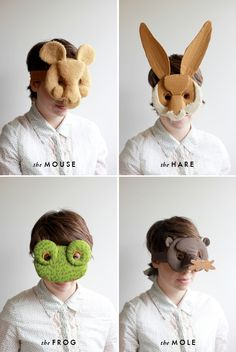 2 DIY animals masks, j