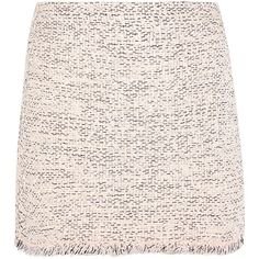 Balenciaga Frayed tweed mini skirt (5 940 SEK) ❤ liked on Polyvore featuring skirts, mini skirts, bottoms, short pink skirt, pink tweed skirt, colorful skirts, multi color skirt and short skirts