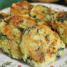 Kale and Potato Cakes  I got this Recipe from the Yummly site.  I just added a little Parmesan cheese