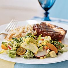 Summer's Best Garden Salad-- Remember to go light on the dressing and skip the avocado topping to keep this red-free #lunch | www.kurbo.com