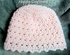 BABY HAT kiss cross stitch Newborn 0-3 months Hand Crochet Baby Gift unisex Baby Birth / Christening gift - Edit Listing - Etsy