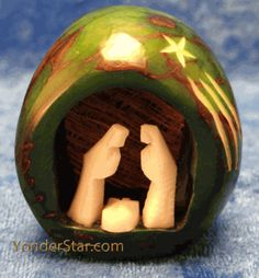 Shooting Star Nativity Green Tagua Nut Fair Trade - sold out Nativity Sets For Sale, A Child Is Born, Natural Brown, Shooting Stars, Fair Trade, Snow Globes, Hand Carved, Gingerbread, Christmas Bulbs