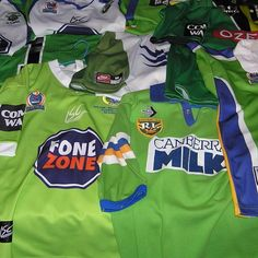 Some classic Canberra Raiders jerseys. Raiders 2993a1cf9