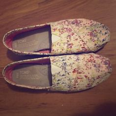 LIMITED EDITION TOMS SIZE 6.5 Worn once! In great condition super cute color and easy to match! 2 pairs for $40 TOMS Shoes