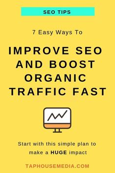 Improve SEO and Boost Organic Traffic Fast // Tap House Media -- Content Marketing, Online Marketing, Affiliate Marketing, Mail Marketing, Internet Marketing, Business Tips, Online Business, Business Opportunities, Keyword Planner