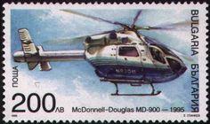 Sello: Helicópteros Bulgaria Transporte Mi: BG 4354