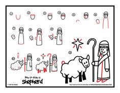 How to Draw a Shepherd - step-by-step tutorial, video lesson, and printable