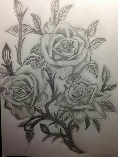 Image about love in Art 🎨 by liz on We Heart It Pencil Drawings Of Flowers, Pencil Art Drawings, Colorful Drawings, Art Drawings Sketches, Rose Drawing Tattoo, Tattoo Drawings, Printable Stencil Patterns, Disney Tattoos Small, Rose Flower Tattoos