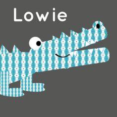 Stoer geboortekaartje voor een jongen met krokodil met blauw patroontje.