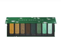 Shop Melt Cosmetics' Smoke Sessions Eyeshadow Palette at Sephora. A palette with eight individually-cultivated shades of green eyeshadow. Green Eyeshadow Look, Eyeshadow Looks, Eyeshadow Palette, Makeup Counter, Melt Cosmetics, Mean Green, Cannabis Plant, Blue Dream, Iron Oxide