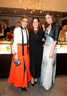 Hey girls! Olivia, Monica Vinader and Amber Le Bon caught up for a girly gossip in the new store
