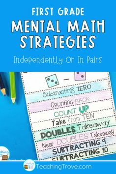 Knowing and applying addition and subtraction strategies helps improve fact fluency. You can help them become fluent and increase your student's confidence in math by teaching them addition and subtraction mental math strategies. #mathstrategies
