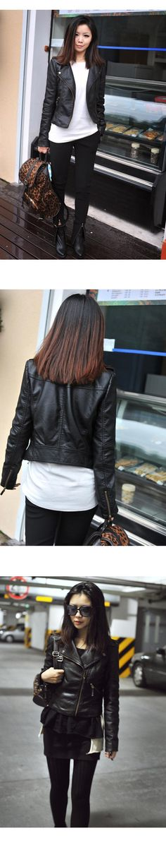 New Spring Autumn 2016 Women Jacket Black Fashion Slim S-3XL PU Leather Motorcycle Short Outwear Jaqueta Feminina Damen Jacket   http://www.dealofthedaytips.com/products/new-spring-autumn-2016-women-jacket-black-fashion-slim-s-3xl-pu-leather-motorcycle-short-outwear-jaqueta-feminina-damen-jacket/