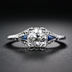 .95 Carat Vintage Diamond Engagement Ring. This reminds me of the ring Monica got on Friends!