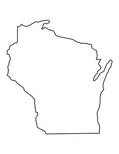 Wisconsin pattern. Use the printable outline for crafts, creating stencils, scrapbooking, and more. Free PDF template to download and print at http://patternuniverse.com/download/wisconsin-pattern/