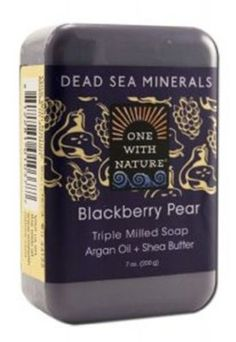 One With Nature Blackberry Pear Dead Sea Mineral Soap, 7 Ounce Bar